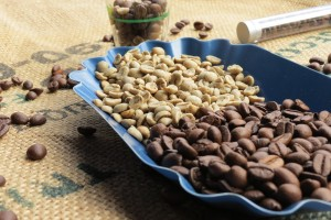 Kaffeeröster Auswahl, geröstete Kaffeebohnen