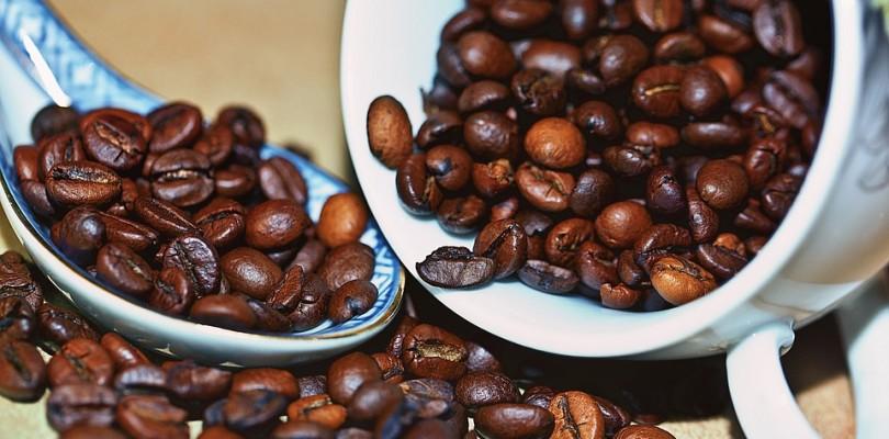 Kaffeeröster, geröstete Kaffeebohnen